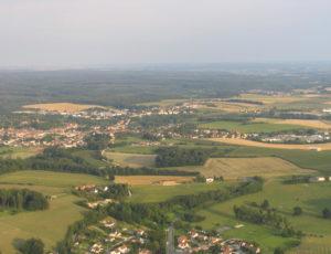 Sainte-Ménehould vue du ciel