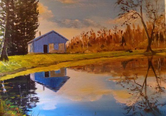 cabane bleue d'Hélène